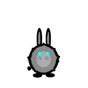 Bunny Puff Ball by OrpheosEleutherios