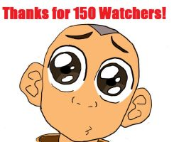 Thanks for 150 watchers! by I-wuv-Bolin