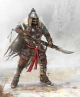 Mongolian warrior by animationchambers