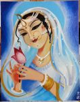 Radha Oil Painting Comission by britt--