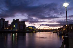 Newcastle by night 2 by paradoxofminds