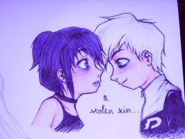 A Stolen Kiss... by psycho-eyes-ON
