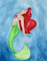 The Little Mermaid- Ariel Watercolor by julesrizz