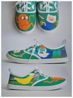 Adventure Time Sneakers by lil-angel-assasin