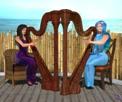 The harpists by Chronophontes