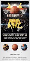 BasketBall Sports Flyer Template by saltshaker911