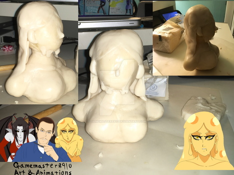 Hisami sculpture w.i.p 4 by gamemaster8910