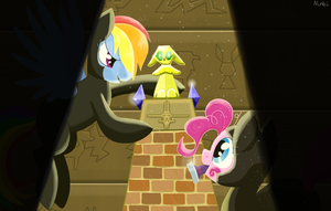 PinkieDash and the quest for the Golden Statue by Ninbikun
