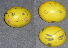 Pikachu Easter Egg I painted by MewIchigoZoey