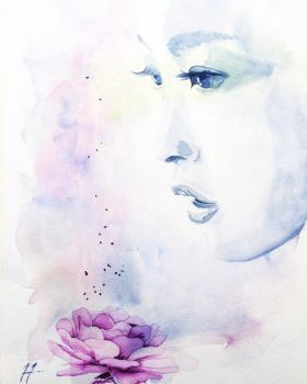 A Piece Of Thought 2 by SteveHeggenAquarelle