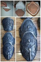 Assassins Creed armor progress by Jay-Michael-Lee