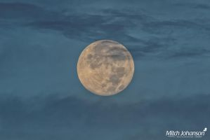 Morning Super Moon by mjohanson