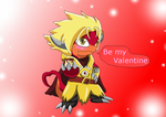 Drum Be my Valentine by HeroHeart001