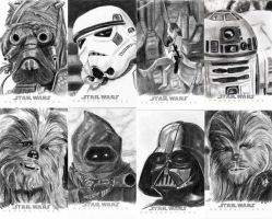 Topps Sketch Cards Group 2 by khinson