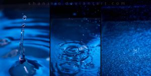 Blue Droplets by shan3990