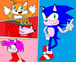 Sonic 25th anniversary by scifiguy9000