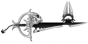 Dark keyblade by miniktty