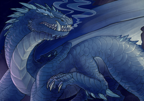 Blue Dragon Commission by Lucieniibi