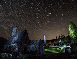Glendalough StarTrails by BMC-Photography