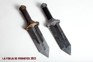 Dwarf dagger - Bronze and silver by LaForjadePrometeo