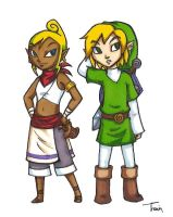Adult Tetra and Link by BeagleTsuin