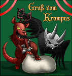 Gruss vom Krampus! by Tikara-the-Mew