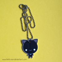 Black Cat Plastic Necklace by Keito-San