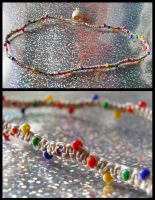 Simple Rainbow Choker by Jenna-Rose