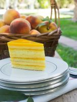 Peach Souffle Cake by picallure