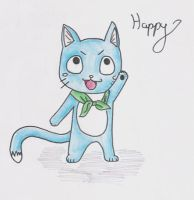 Happy drawing by Leticiahtk