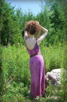 Naturally Dyed Purple Dress-Back by MorbidKittyCorpse