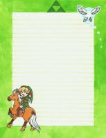 Link and Epona stationary by Feilan