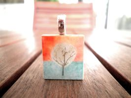 Autumn tree Scrabble Tile by nailiew