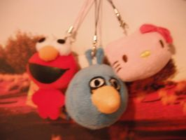 elmo,blue angry bird and hello kitty push trio by kaitlynb7