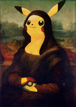 Pika Lisa (Pickachu Mona Lisa) by LordAshleyHippigod