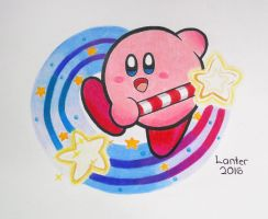 Kirby with Star Rod - A Wish Is Granted by Isuckworse