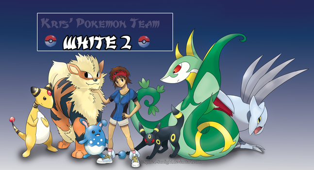 Pokemon White 2 Team by Spilled-Sunlight