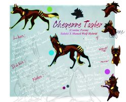 Cheyenne Tayler Canid Ref by MeanCheen