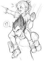 Vegeta x Young Bulma by KameKura