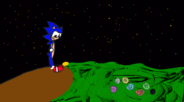 sonic and the brown mountain lights by sonicnazofan