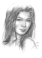 Pencil Portrait - Angelica by scarypet