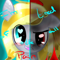 Two sides of Moddie pony. AKA Krissie by KrissieKat