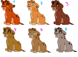 Adoptable cubs CLOSED by Onee-Katty