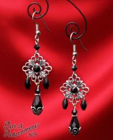 Nocturne Rhinestone Chandelier Earrings by ArtOfAdornment