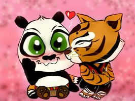 Chibi Po X Tigress by Nilusanimationworld
