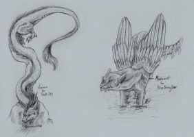 Vernon and Makemut Sketches by animalartist16
