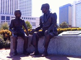 Man and Boy Statue by twofortheprice