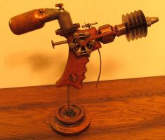 Steampunk Ray Gun 'Trouble' by zimzim1066