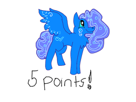 5 point Pony adoptable CLOSED* by CCMacoroniAdoptables