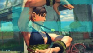 chun-li psp wallpaper by 810h4z4rd